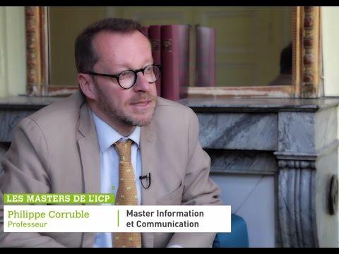 Master Information Et Communication    Les Masters De L'ICP