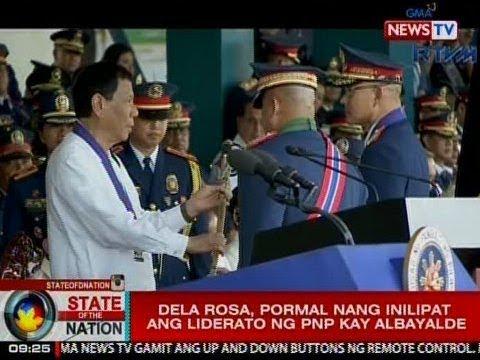 SONA: Bato Dela Rosa, pormal nang inilipat ang liderato ng PNP kay Albayalde