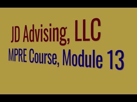 Module 13 - Practicing MPRE Questions