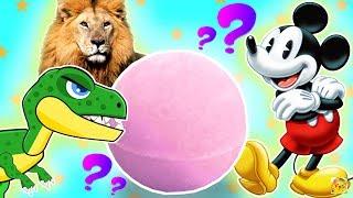 BOLAS DE BANHO SURPRESA! Dinossauros, Animais Selvagens, Disney Mickey e Minnie DO JAPÃO (バスボール)