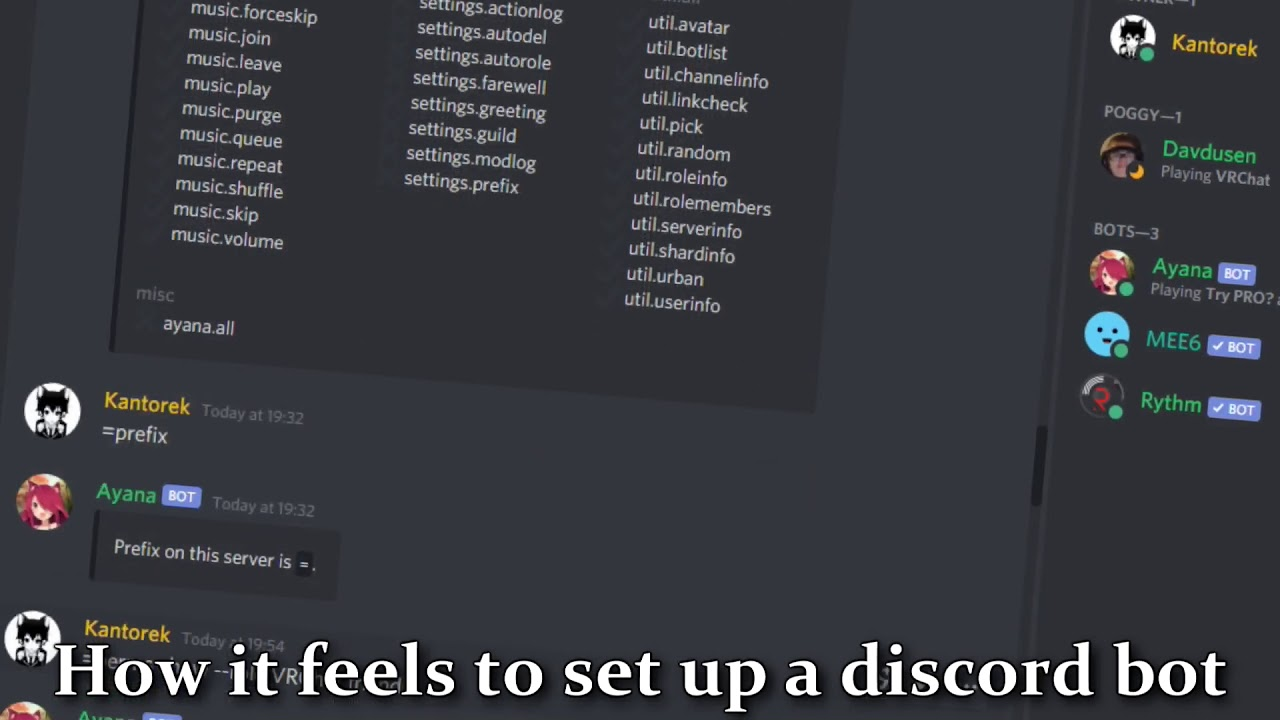 How it feels to set up a discord bot ( meme ) - YouTube