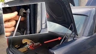 Замена амортизаторов багажника Ауди 100/A6 С4(Как заменить амортизатор багажника Ауди 100 и Ауди А6 С4 - инструкция по замене газового упора багажника. ..., 2016-04-22T18:59:38.000Z)