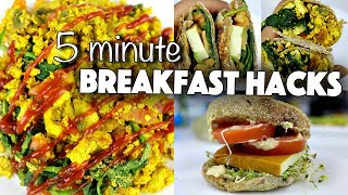 EASY VEGAN BREAKFAST RECIPES FOR COLLEGE STUDENTS (SAVOURY) // dorm-friendly