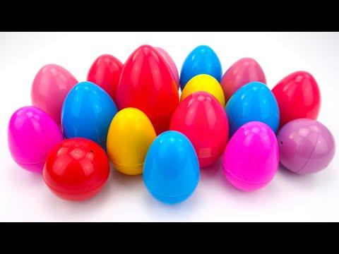 Сюрпризы и игрушки из мультиков. Распаковываем кучу яиц.