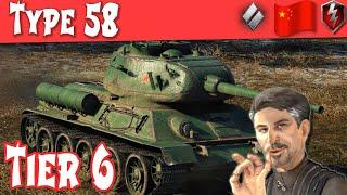 Type 58 Full Tank Review Chinese Tier 6 Medium   WOT Blitz  
