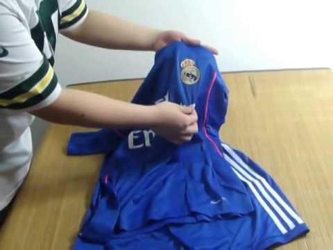 Adidas 2013 2014 Real Madrid Away Blue 4 SERGIO RAMOS Soccer Jersey Review