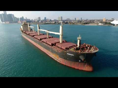 Rodopi ship at anchor - Detroit River 11.27.16