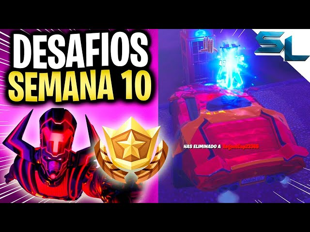 TODOS los DESAFIOS DE LA SEMANA 10 FORTNITE TEMPORADA 4