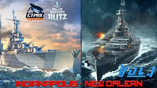 wOWS BLITZ ФЛОТ СТРАХ: New Orleans and Indianapolis VII