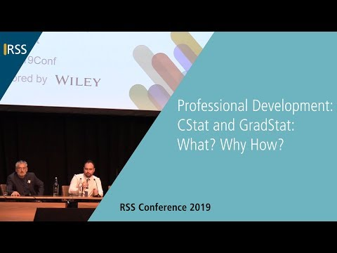 Professional Development: CStat and GradStat: What? Why How?