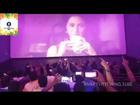 Rohini Theater Located in chennai Fans Celebration For Petta Trailer Screened