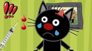 ВЫЛЕЧИ ДРУГА - Три Кота Доктора! Развивающие игры для детей! | DEVGAME Дети