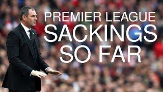 Premier League Sackings - Who's Gone So Far?