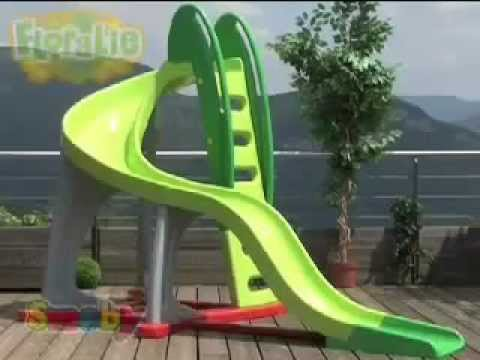 Smoby Childrens U Turn Large Garden Kids Slide - YouTube