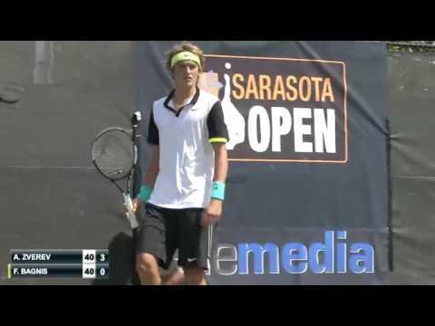 Alexander Zverev (GER) v Facundo Bagnis (ARG) -  2015 Sarasota Open cut