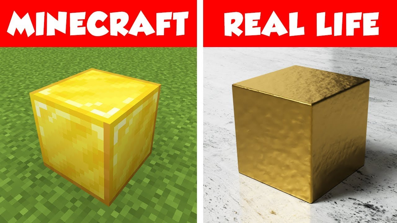 Gold Block In Real Life Minecraft Vs Real Life Animation