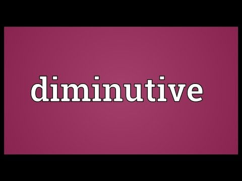Diminutive Meaning
