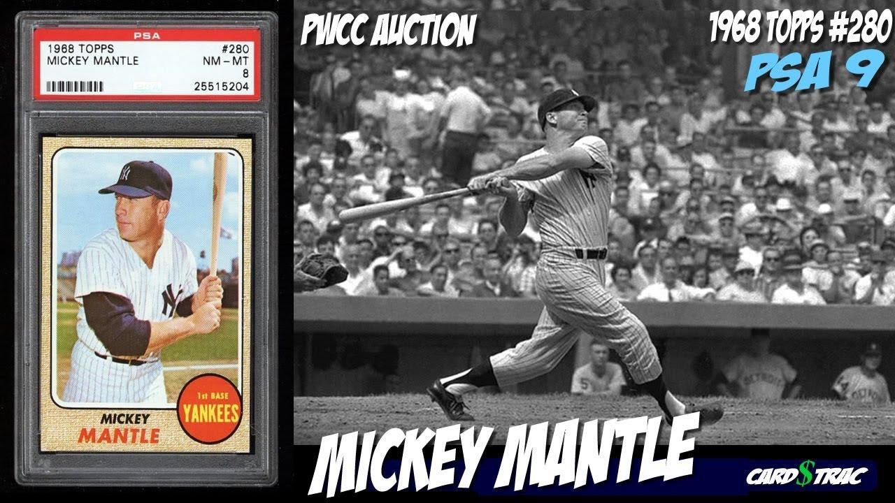 1968 Mickey Mantle Topps 280 Graded Mint Psa 9