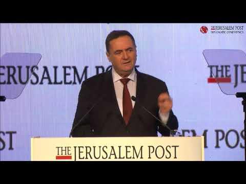 Minister Israel Katz at the 2017 Jerusalem Post Diplomatic Conference, December 6, 2017