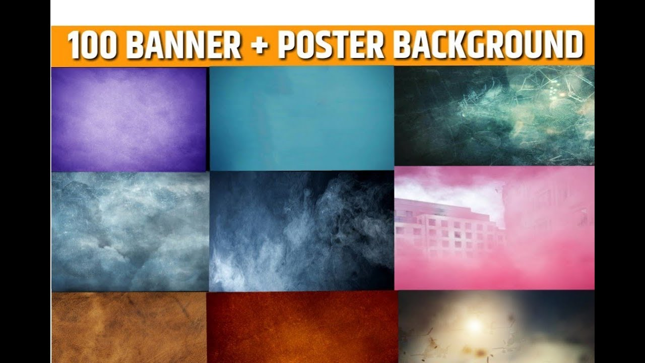 100 Plain Poster+Banner Background