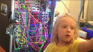 6 Year Old Girl Patches Modular Synth