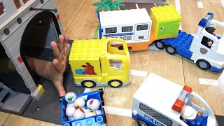 Pretend Play Fire Truck Police Cars Rescue Stolen cars Garbage Trucks Ambulance Toys  Kids  Vehicles