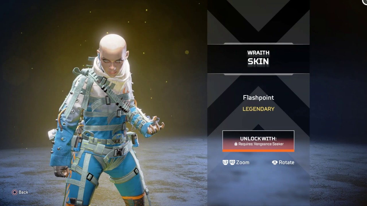 WRAITH LEGENDARY SKIN - FLASHPOINT (IN-STORE VIEW) (APEX LEGENDS ...