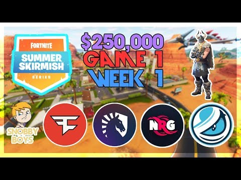 $250,000 🥊Summer Skirmish Tournament🥊 Week 1,Game 1 (Fortnite)