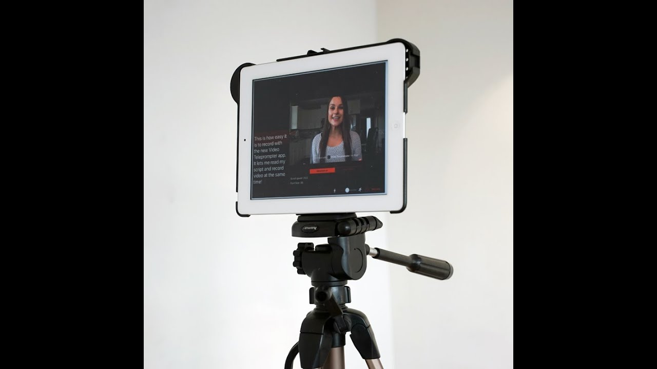 iPad & iPhone Teleprompter - Video Recorder - Complete Kit