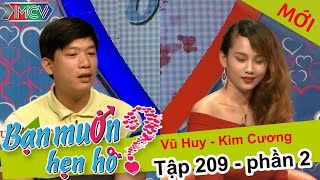 Bà mối kinh ngạc với cô gái xinh đẹp 6 năm yêu đơn phương | Vũ Huy - Kim Cương | BMHH 209 😲