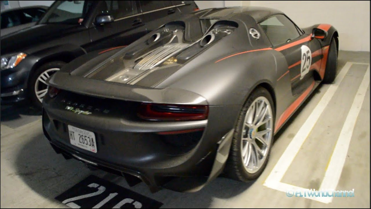 Porsche 918 Spyder Spotted In The US Exclusive Walkaround Exterior Interior