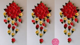 BEAUTIFUL WALL HANGING MADE WITH PAPER WOOL AND CARDBOARD   Easy paper hanging gift