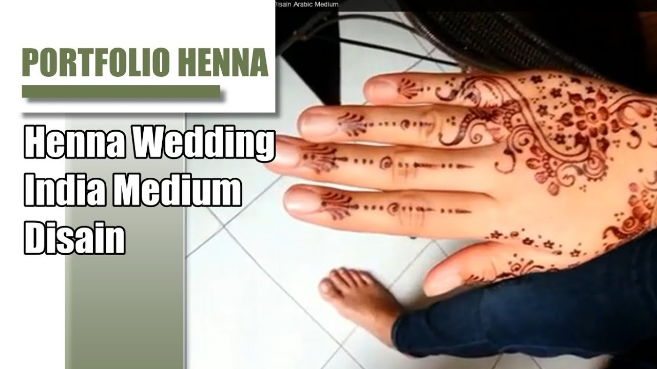 Contoh Henna Pengantin Simple Disain India Youtube
