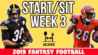 Week 3 Start Em' Sit Em' - Fantasy Football