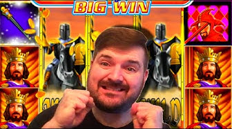 💥👑💥OMG! LANDING THE KING SYMBOL On Black Knight Slot Machine In The Bonus! 💥👑💥