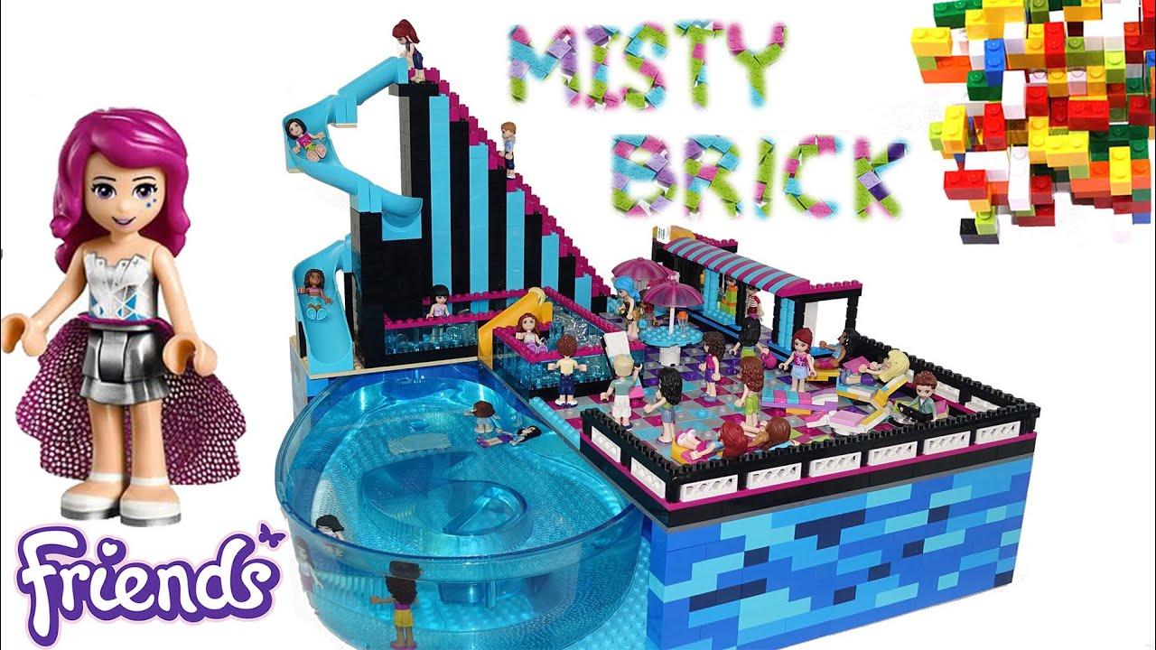 Lego Friends Pop Star Swimming Pool By Misty Brick Youtube