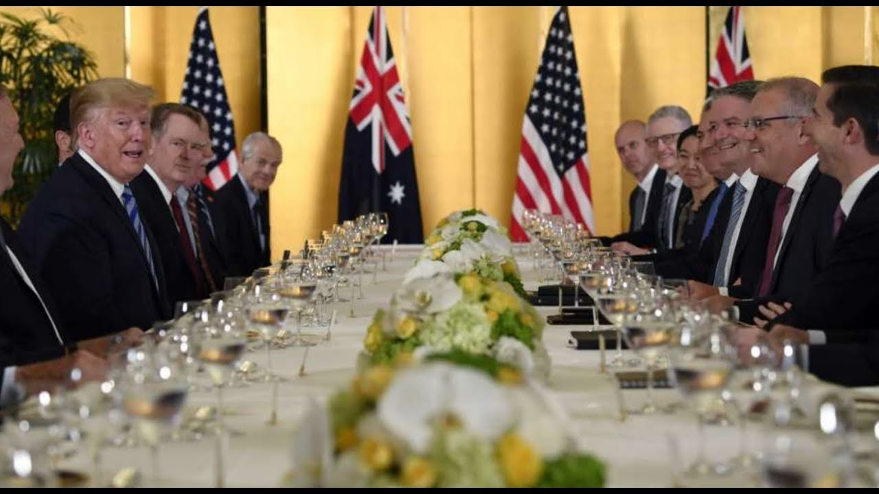 G20: President Trump WORKING dinner with the Prime Minister of Australia in Osaka Japan