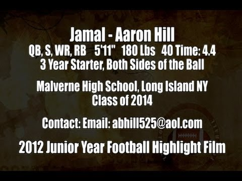 2012 Jamal Aaron Hill Junior Year Football Highlight Film Recruiting Tape