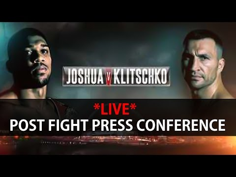 **LIVE** Anthony Joshua Post Fight Press Conference After Their Boxing Fight