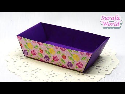 Origami - Tray, Box (How to make, Tutorial, DIY)