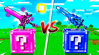 Desafío de LUCKY BLOCK de CHICA VS LUCKY BLOCK de CHICO 👫😂 MINECRAFT INVICTOR