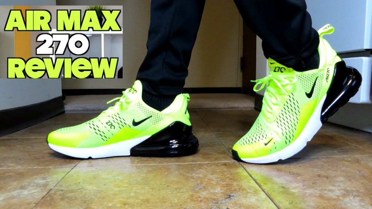 15192e2e86fca Nike Air Max 270 Volt Review + On Foot - YouTube