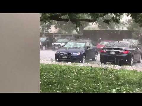 Baseball-Sized Hailstones Damage Cars At Fort Carson