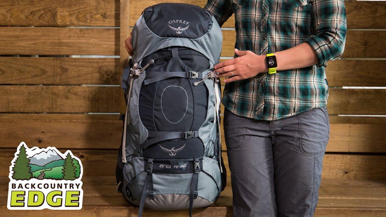 c05b39fc9 Osprey Ariel AG 75 Women's Internal Frame Backpack - YouTube