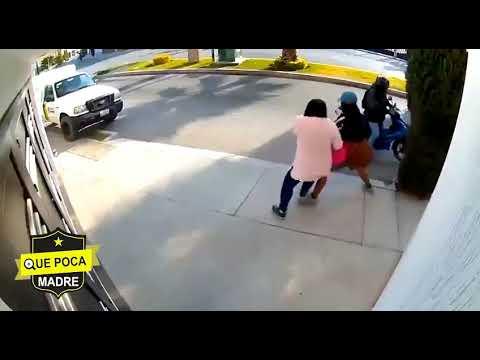 Mujer se defiende de un asalto