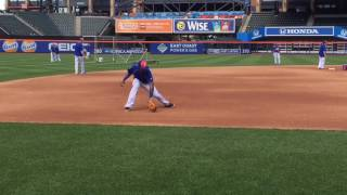 Mets' Jose Reyes practices third base