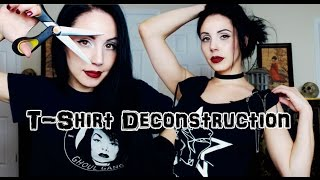 How To DIY Your Old Shirts | Gothic Fashion Revamp