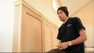 Installing Panel Moulding - Recessed Wainscoting Offset
