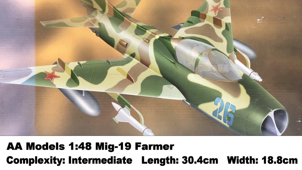 Trumpeter 1//48 Mig19S Farmer C Fighter Model Kit