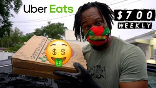 A Day In the Life of a Uber Eats Driver l $700 First Week Earning